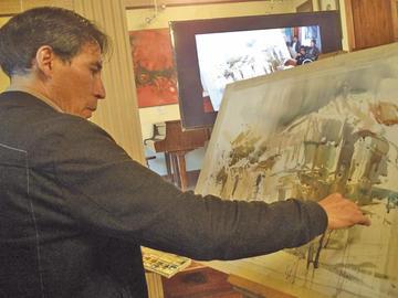 Artistas comparten en un taller técnicas en pintura