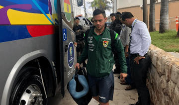 La selección nacional llegó a Belo Horizonte