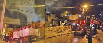 Sofocan un incendio de un domicilio en Villa Venezuela