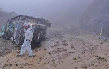 Derrumbe en un camino del sur de Colombia deja dos muertos