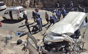 La colisión de autos chutos provoca dos fallecidos