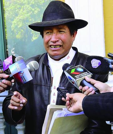 Rafael Quispe irá a Achacachi para batirse a duelo con los Ponchos Rojos