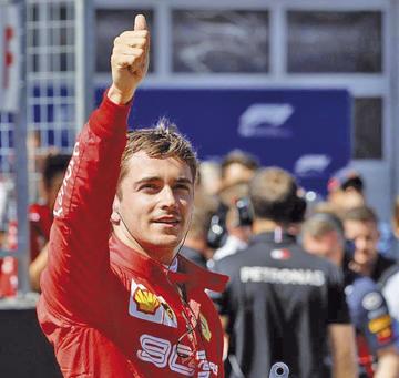 Leclerc saldrá primero en el GP de Austria
