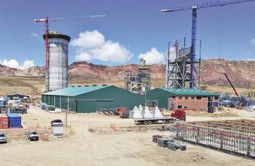 Fábrica de cemento tiene el 85 por ciento de avance