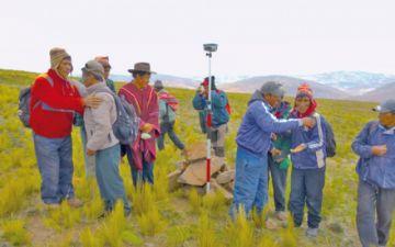 El 91 % de tierras en Potosí están tituladas y saneadas