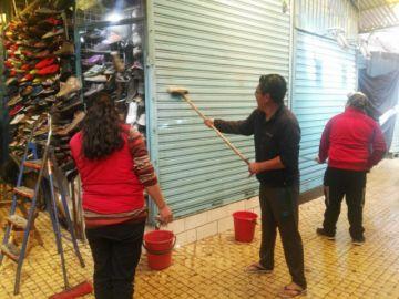 Movilización permite limpieza de mercados