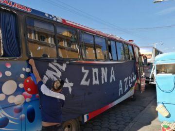 Los hinchas de Calero viajan en cinco buses a Sucre