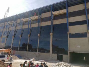 Gobernación inspecciona las obras de construcción del estadio