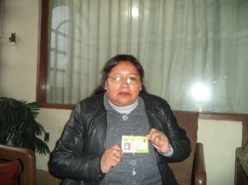 Virginia Vela sostiene que es dirigente reconocida por la Federación de Gremiales