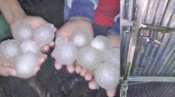 Granizo destruye techos y pobladores piden ayuda