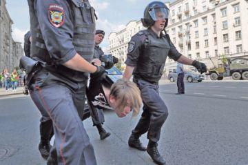 Una protesta opositora en Moscú termina con cientos de detenidos