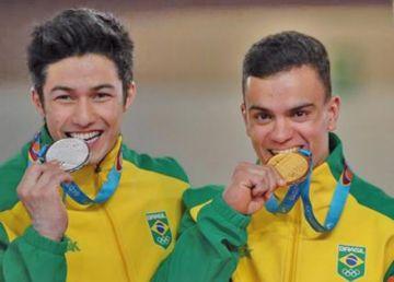 Souza y Mariano le regalan medallas a Brasil en gimnasia