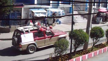 Detonaciones de cachorros de dinamita se utilizan en el paso de la brigada de control