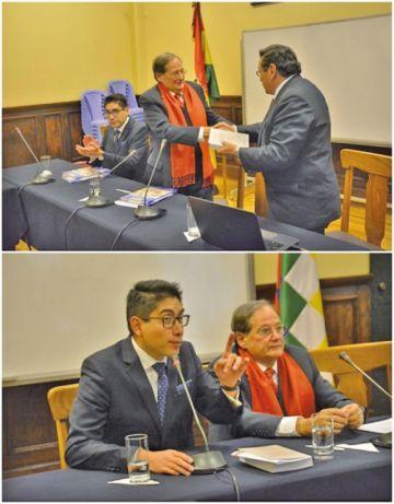Socios de la SIHP dieron conferencias en La Paz