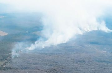 Santa Cruz: declaran alerta roja por incendios