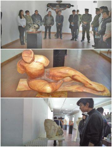 Potosinos plasman su arte en  esculturas