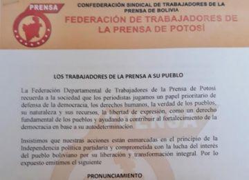 Prensa da plazo para que el alcalde de Uyuni pida disculpas