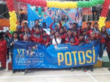 Potosí logra 35 medallas en los Juegos  Estudiantiles Plurinacionales de Educación Especial