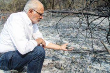 Incendios: Mesa también visita Roboré y critica al Gobierno
