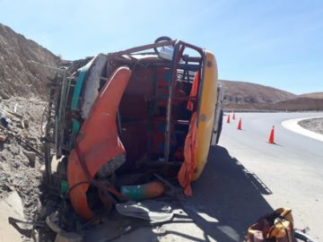 Accidente deja heridas a 16 personas en la carretera Tupiza – Atocha