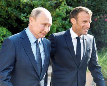 Macron acerca posturas con Putin a poco del G7