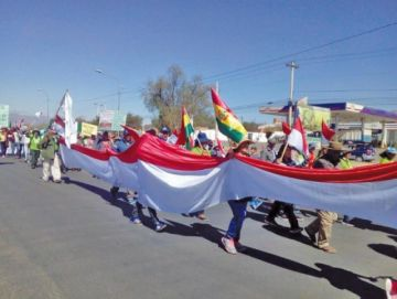 Marchistas de Tariquia piden eliminar contrato petrolero