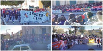 Marcha de estudiantes toma las calles y pide la renuncia del vice