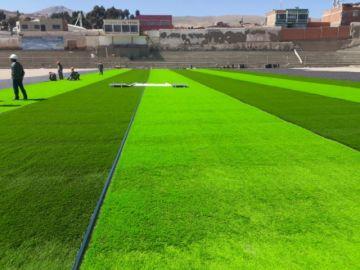 """Comienza el colocado de césped sintético en el estadio """"Potosí"""""""