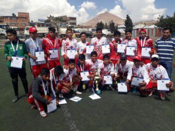 Berríos, de Potosí, es campeón de fútbol varones de los pluris