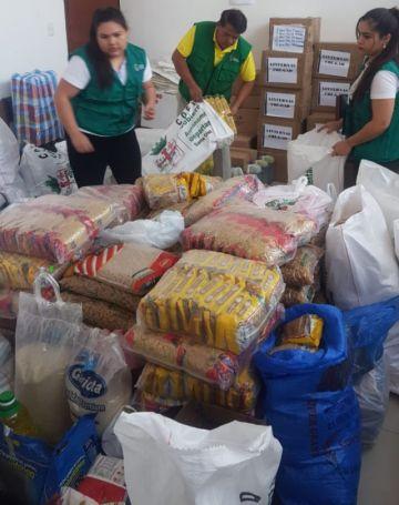 Santa Cruz muestra cómo recibe las donaciones para afectados por incendios