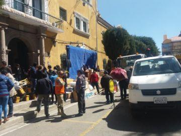 El apoyo recaudado de los potosinos parte a la Chiquitanía