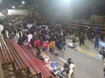 Comerciantes ocupan las calles de la ruta de Ch'utillos