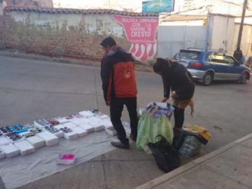 Comerciantes madrugan en el punto de inicio de Ch'utillos