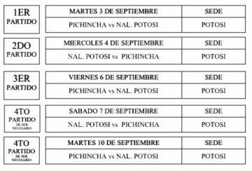 El 3 de septiembre es el primer partido de la final de la Libo