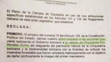 Denuncian que el MAS trabaja un proyecto para felicitar a Evo Morales