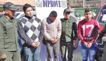Cae una banda de ladrones de autopartes en El Alto