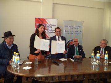 La UATF suma apoyo español para la formación académica