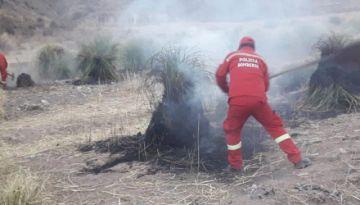 Controlan un incendio en la localidad de El Molino
