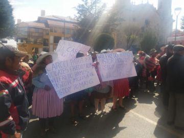 Comunarios de Cantumarca piden cárcel para exvocales