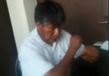 Vídeo muestra al Gobernador de Oruro en presunto estado de ebriedad