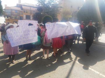 Manifestación exigió cárcel para exvocales condenados