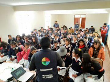 Defensoría del Pueblo socializa prevención de la violencia en colegios