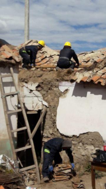 Comenzaron las obras preventivas en la casa de Alba