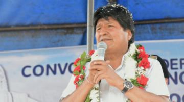 Evo afirma que ataque a casas de campaña del MAS busca que el pueblo no triunfe en comicios