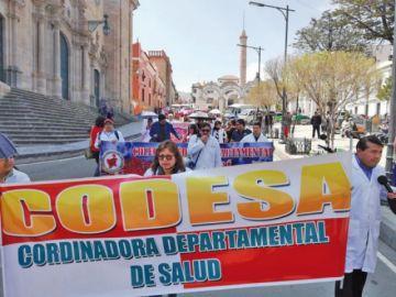 Médicos anuncian la instalación de piquetes de huelga de hambre