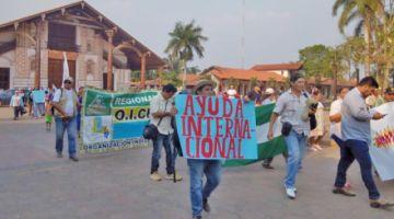 Inicia marcha indígena exigiendo declaratoria de desastre nacional