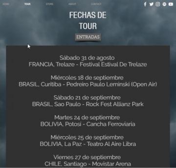 Hoy inicia la esperada gira  sudamericana de Europe