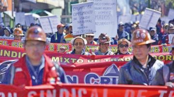 Declaran legal la huelga de los trabajadores de la minera San Cristóbal