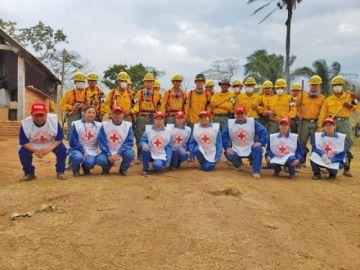 Primera brigada de la Cruz Roja de Potosí vuelve tras asistir en la Chiquitania