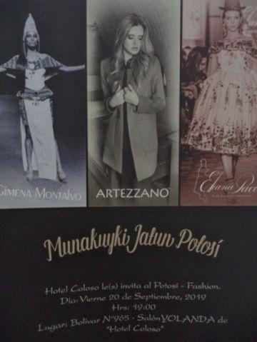 Hotel Coloso presenta desfile Munakuyki Jatun Potosí fashion
